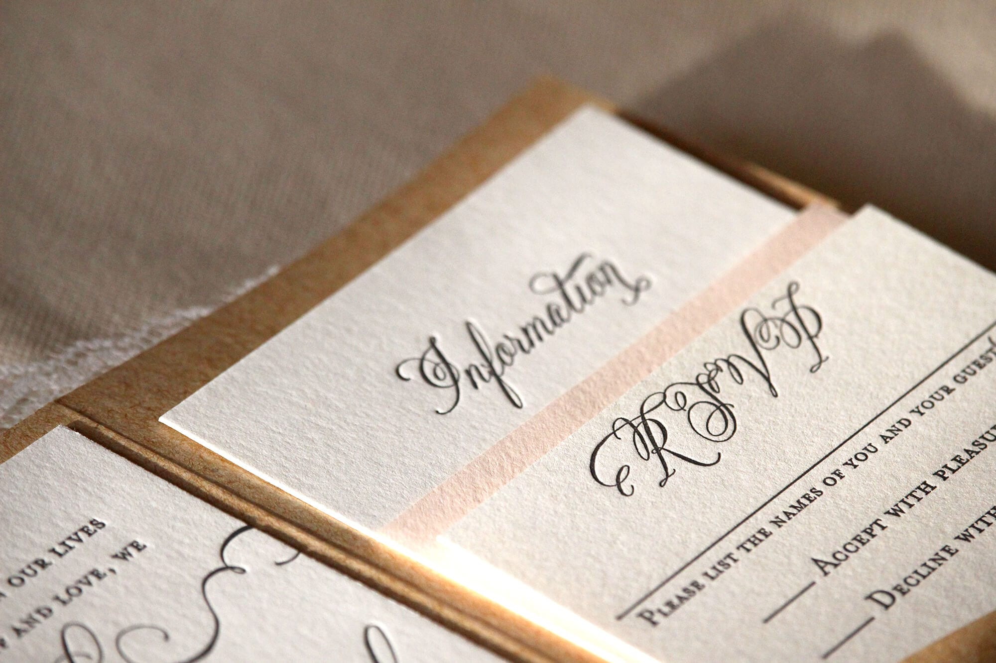 letterpress wedding invitation new york
