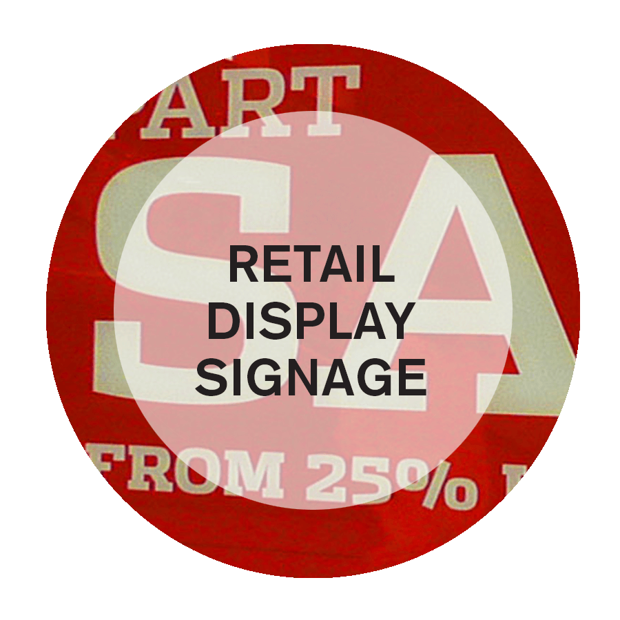 speciality design for display retail signages in NYC