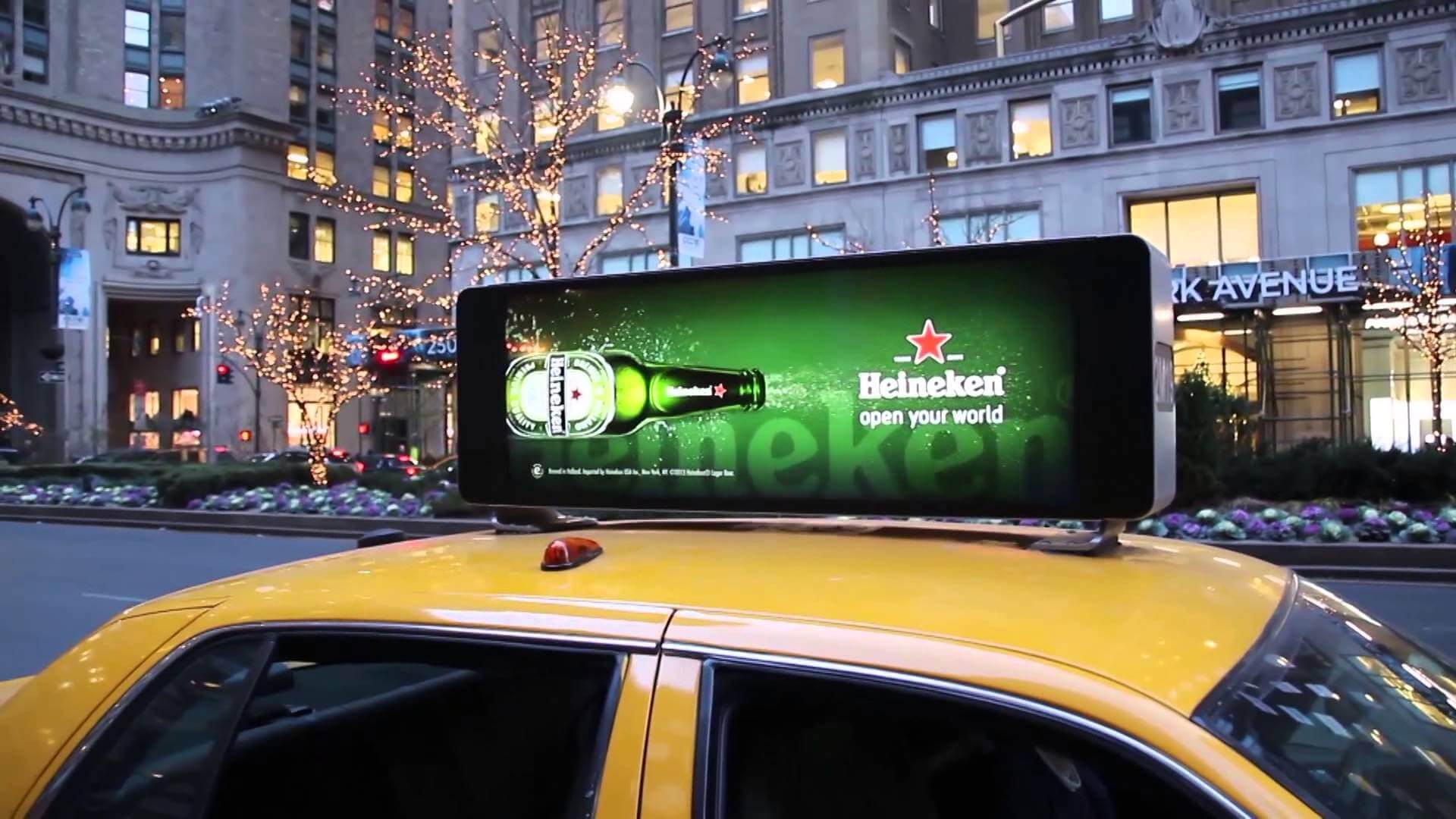 taxi top ad design new york