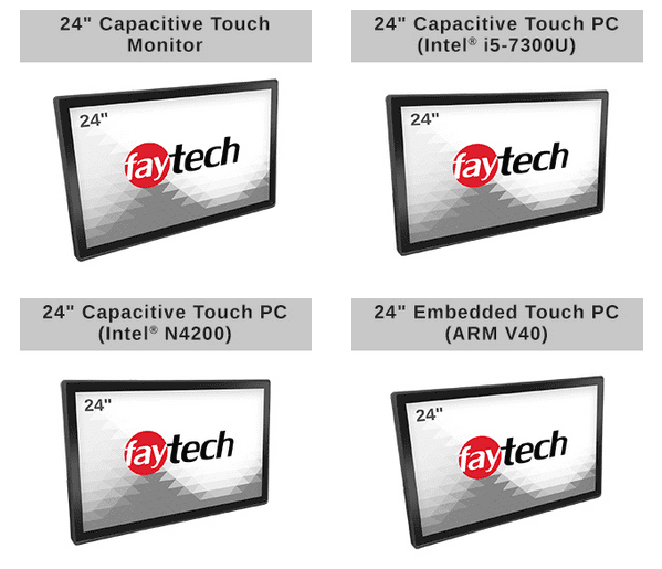 faytech's 24″ Capacitive Touch Devices