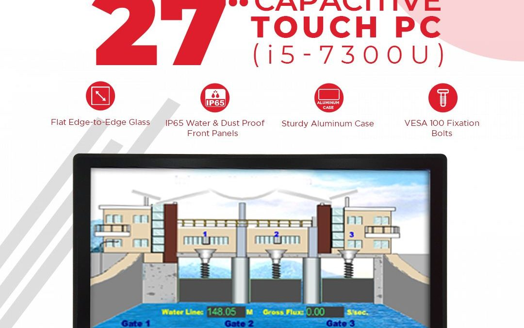 27″ Capacitive Touch PC Powered By the High-End Kaby Lake U Industrial Mainboard
