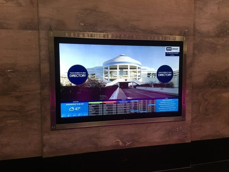 metroclick interactive touch screen directory system