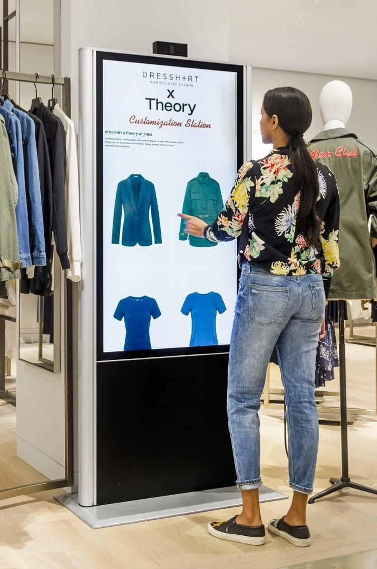 retail interactive glass touchscreen system metroclick